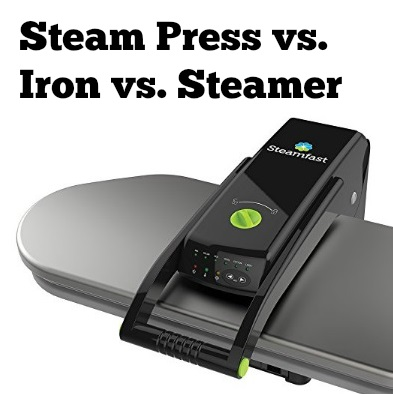 steam press vs. iron vs. steamer