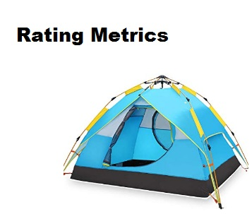 best instant tent rating metrics